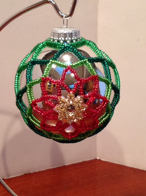 Poinsettia ornament (Item #4101) $20.00