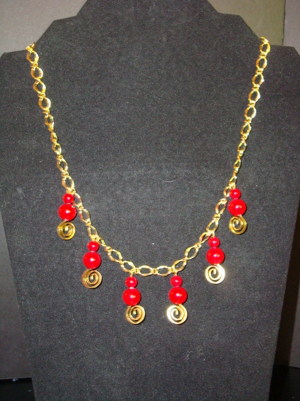 Red Stone Swirls (Item #1111)  $10.00