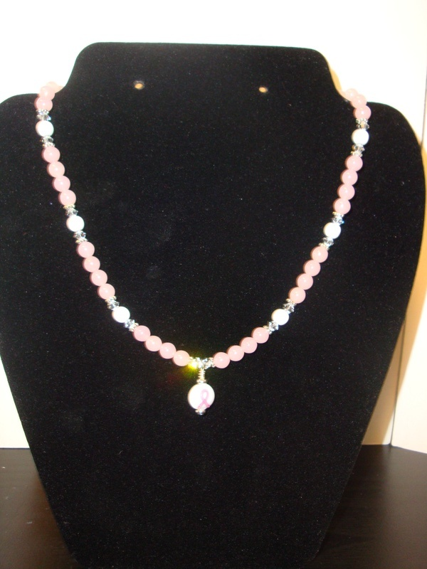 "Breast Cancer Awareness ""Pearls"" (Item #1199) $15.00"